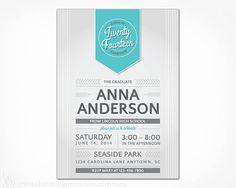 Graduation Party Invitation - Choose Your Color - PRINTABLE FILE - 2014 High School College Graduation Party Announcement