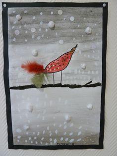 Vogel in de sneeuw