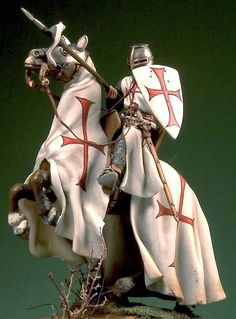 Pegaso Models Templar Knight mounted