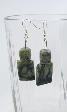 Handmade Gifts of Jewelry: Green marble, serpentine: One of a kind