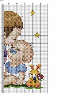 Parte 1 Baby Cross Stitch Patterns, Cross Stitch For Kids, Cross Stitch Baby, Cross Patterns, Cross Stitch Designs, Embroidery Patterns, Cross Stitching, Cross Stitch Embroidery, Cross Stitch Pictures
