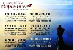 Open Trip September 2015 Transportation, September, Tours, Explore, Marketing, Travel, Viajes, Destinations, Traveling