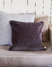 NYC Velvet Cushion Cover Taup - Rivièra Maison - Kussenhoes