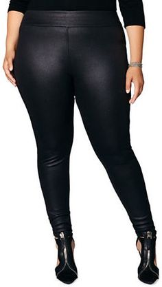 Mblm By Tess Holiday Plus Ultra-Stretch Scuba Leggings