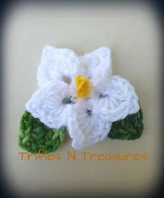 Totally Tropical Flower~FREE Pattern - Trifles & Treasures