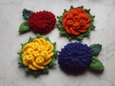 Hűtőmágnesek I. (Fridge magnets I.) #fridgemagnet #magnet #crochet #flowers