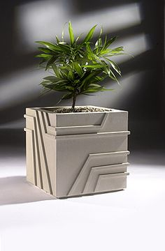 Strap Contemporary Planters, Modern Planters, Indoor Planters, Concrete Projects, Concrete Pots, Concrete Counter, Concrete Design, Modern Architectural Styles, Stone Planters