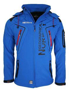 Geographical Norway Hombre Softshell Funciones Chaqueta Para Exterior impermeable - Azul, hombre, Medium
