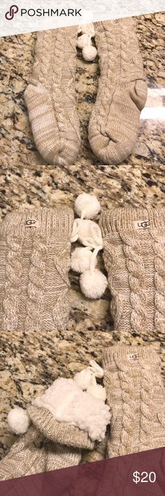 UGG Australia Fleece Lined Sock Slippers Fit any women's size 7-9. Thick socks that act as slippers. Only worn once. Great condition!! UGG Shoes Slippers