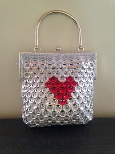 Small heart soda tab purse