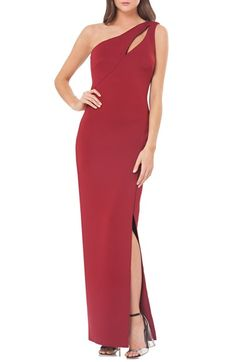 JS Collections One-Shoulder Scuba Gown available at #Nordstrom