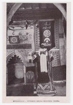 Mogadishu, Somalia. Interior of the Giama mosque, circa 1901.