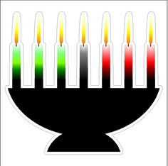 Kwanzaa Candles Static Cling