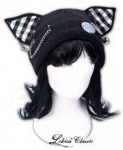 Checker Punk Meow Mii Fleece Hat