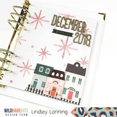 December Daily® Cover Page, Calendar, Reason Why with Lindsey - Wild Hare Scrapbook Paper Crafts, Scrapbooking, Paper Snowflakes, Crate Paper, December Daily, Cover Pages, Hello Everyone, Hare, Planer