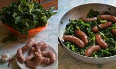 SAUSAGES AND GREENS,