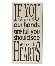 Love this Cream & Brown 'You Should See Our Hearts ' Wall Sign by Vinyl Crafts on #zulily! #zulilyfinds