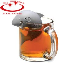 American Shark Shape Tea Infuser Silicone Strainers Tea Strainer Infusor Filter Empty Tea Bags Leaf Diffuser Accessories