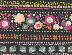 Art Gallery Jersey Knit Fabric - Indie Boheme Boho Quest Jersey Night Navy
