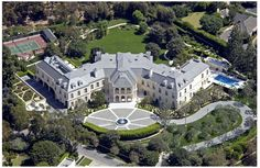 The Manor, located in the Holmby Hills of Los Angeles, California, was the home of Aaron Spelling.