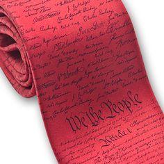 Constitution unique necktie — MUSEUM OUTLETS