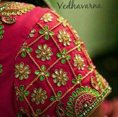 Wedding Saree Blouse Designs, Pattu Saree Blouse Designs, Blouse Designs Silk, Designer Blouse Patterns, Kids Blouse Designs, Hand Work Blouse Design, Simple Blouse Designs, Maggam Work Designs, Embroidery Designs
