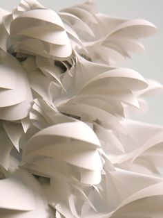 Fabric Manipulation - sculptural textiles design inspiration with layered white textures // Moritz Schwind