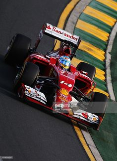 Fernando Alonso of Spain and Ferrari drives during the Australian Formula One Grand Prix at Albert Park on March 16, 2014 in Melbourne, Australia.