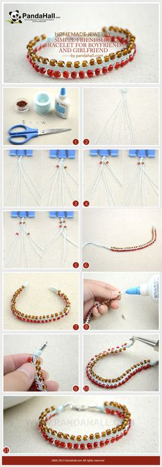 Learn a new way on how to quickly braid you own cool and stylish homemade jewelry-a versatile friendship bracelet for boyfriend and girlfriend. It is really easy to follow and so much fun to make.