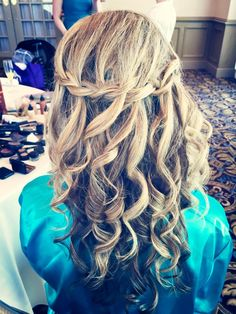 Gorgeous waterfall braid done by our amazing Bella Angel stylists. Philadelphia & South Jersey http://www.bella-angel.com/