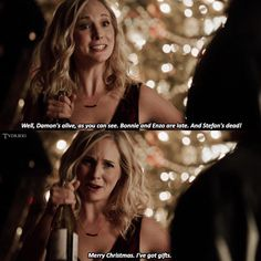 Who else would sound cheerful when everything had gone to shit besides Caroline😂👏😂👏 Caroline Forbes, Caroline Movie, Stefan And Caroline, Vampire Diaries Wallpaper, Vampire Diaries Damon, Vampire Diaries Quotes, Vampire Diaries The Originals, The Cw, Paul Wesley
