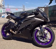 Yamaha R6 black and Purple.  I am not normally a fan of purple but holy crap is this absolutely perfect!!!! In LOVE!