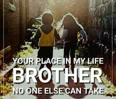 A brother… sees you at your best, sees you at your worst. Sees you come last, sees you come first. Sees your lows, sees your highs. But through all of this, he always stands by. Tag-mention-share with your brother and sister 💜🧡💙👍