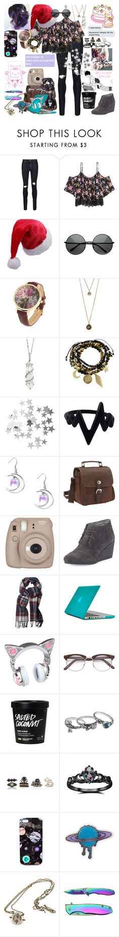 """""""With the moon shining bright and red lanterns alight, butterflies are subtly lured come the sound of festival tunes"""" by rukiakuchiki12341 ❤ liked on Polyvore featuring AMIRI, H&M, Sharon Khazzam, Essentia By Love Lily Rose, Vagabond Traveler, Fujifilm, TOMS, GANT, Speck and NOVICA"""