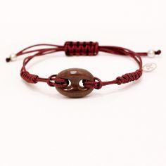 Color #Maroon & #Brown Stone #Bracelet