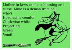 Mother in laws...bahahaha