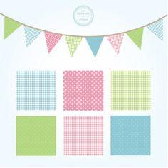 Patrones cuadrados decoradas con tonos suaves. http://www.freepik.es/