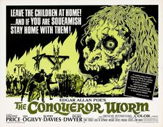 """""""Conqueror Worm"""" (1968) Film Poster -- The American release of """"Witchfinder General"""" starring Vincent Price"""