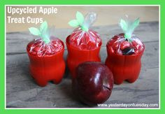 Upcycled Apple Treat Cups - Yesterday on Tuesday