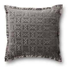 Fieldcrest� Luxury Velvet Decorative Pillow - Gray (Euro)