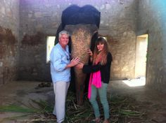 dad and i with shaku at elefantastic- jaipur... Great home for elephants!!!