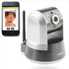 Tenvis IPROBOT3 Wireless Wlan Wifi IP Kamera CCTV IR Nachtsicht Netzwerk P2P HD