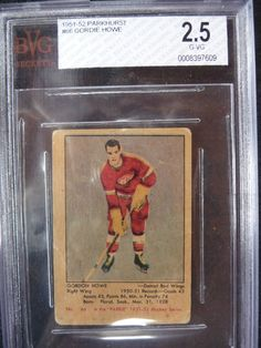 1951-1952 Parkhurst Gordie Howe Rookie Card Hockey Cards, Baseball Cards, Birth Year, Detroit Red Wings, Nhl, Legends, Sports, Cards, Hs Sports