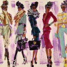 Donald Drawbertson's Illustrations of Celebrity Stylist June Ambrose