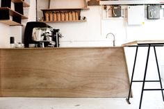 Timber counter, DunneFrankowski coffee shop