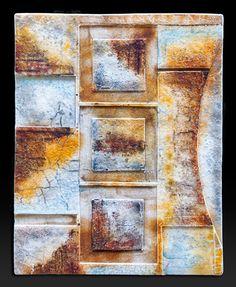 """Fused Glass Wall Piece.  30"""" x 24"""" by Nancy Cann   www.cellarart.com."""