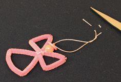 Easy Angel Crafts Wire Cross Angel Step 16 make loop in yarn