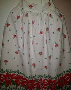 Vintage Holiday Poinsettia Apron by maggiecastillo on Etsy, $7.00
