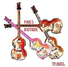 Paul McCartney, Hohner bass guitar, fan art