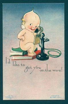 Rose O'Neill Kewpie postcard